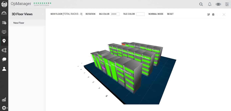 3D floor view opmanager