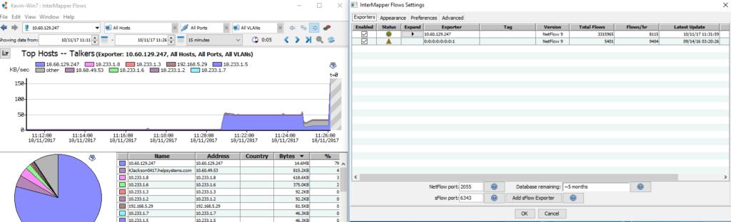 Intermapper Bandwidth Monitoring