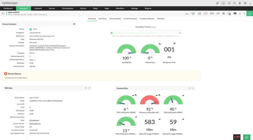 OpManager-Index-Snapshot