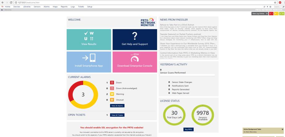 PRTG Web Portal