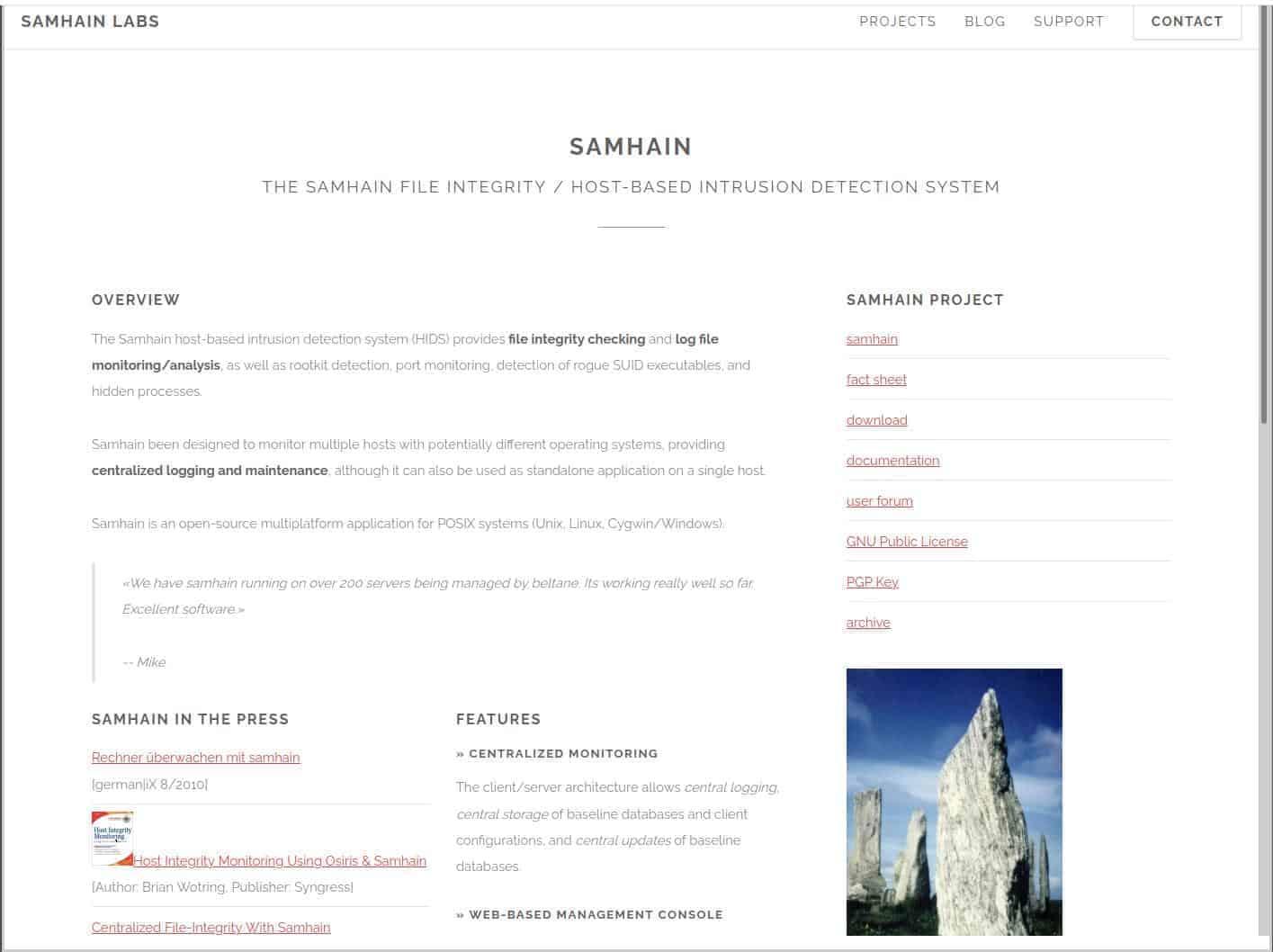 Samhain File Integrity
