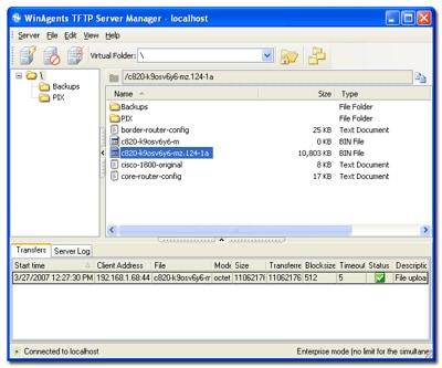 winagents tftp server screenshot