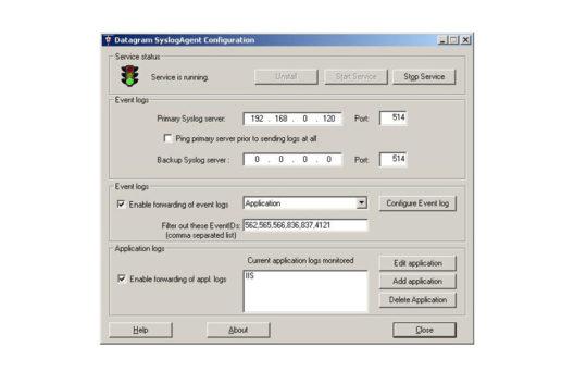 datagram syslog screenshot