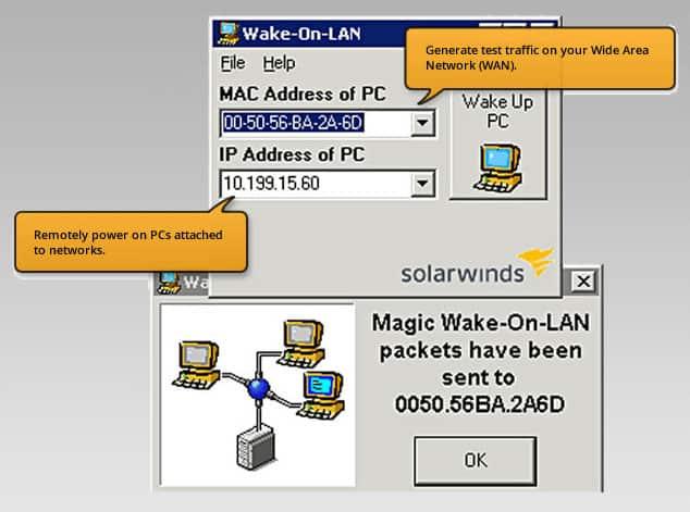 solarwinds wol utility