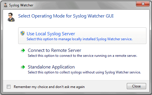 syslog watcher install options