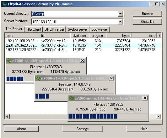 tftpd32 tftp server