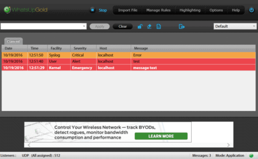 whatsup syslog server by ipswitch