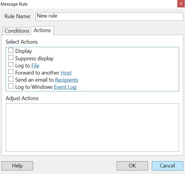 whatsup Advanced Alerts Menu Options